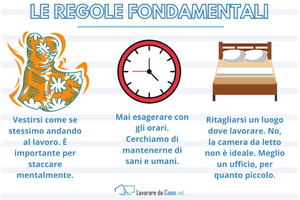 Le regole fondamentali - infografica